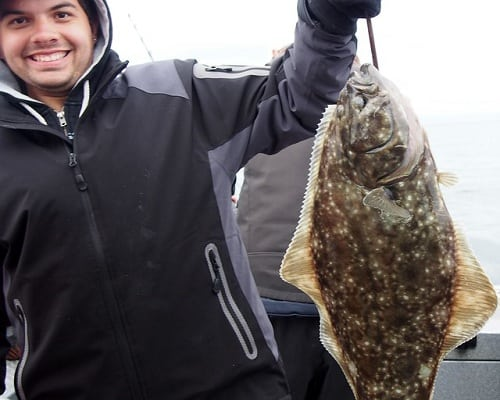 Man with a halibut