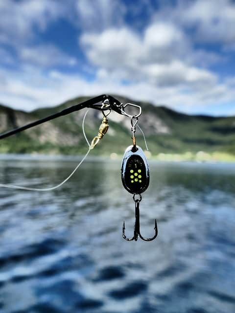 fishing bait attached to swivel