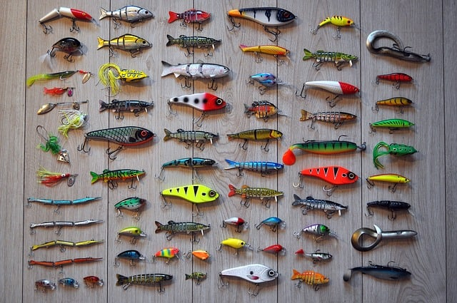 fishing lures in different fish designs